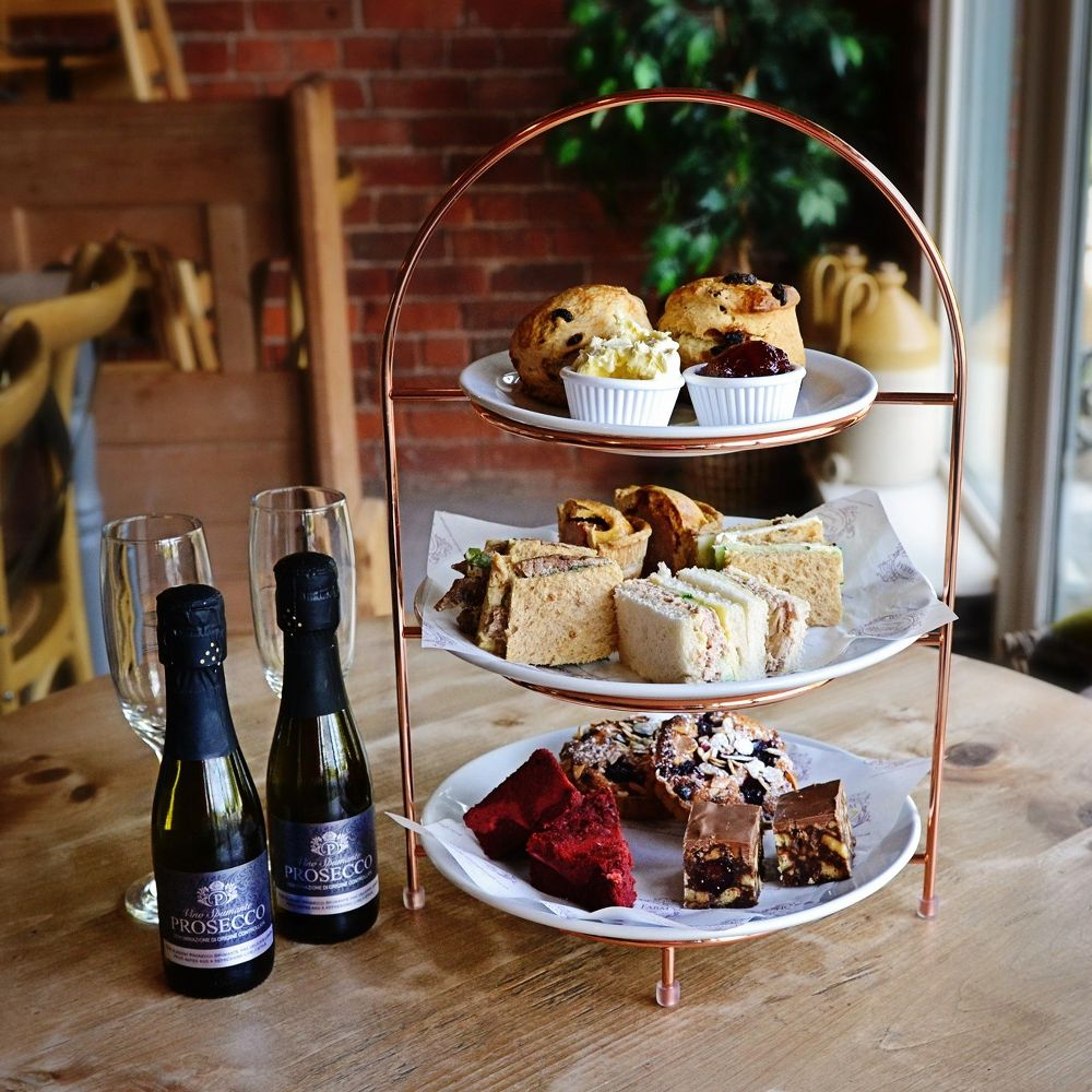 Home Farm Beningbrough afternoon tea with prosecco