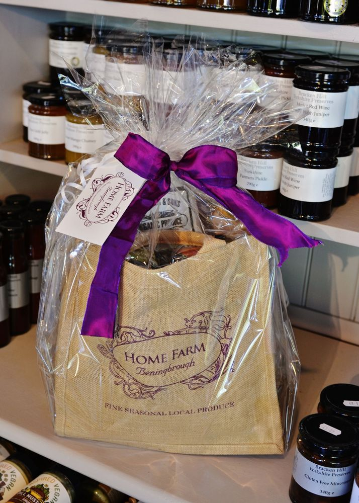Home Farm Beningbrough hand tied hampers