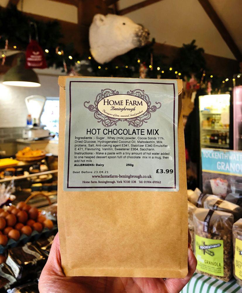 Home Farm Beningbrough hot chocolate mix