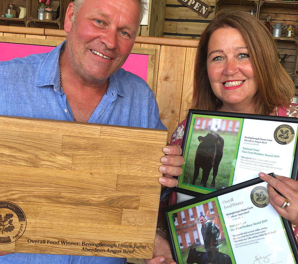 Overall winners of the National Trust's Fine Farm Produce Awards for our Aberdeen Angus Beef