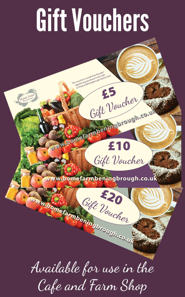Gift Vouchers for Home Farm Cafe and Farm Shop