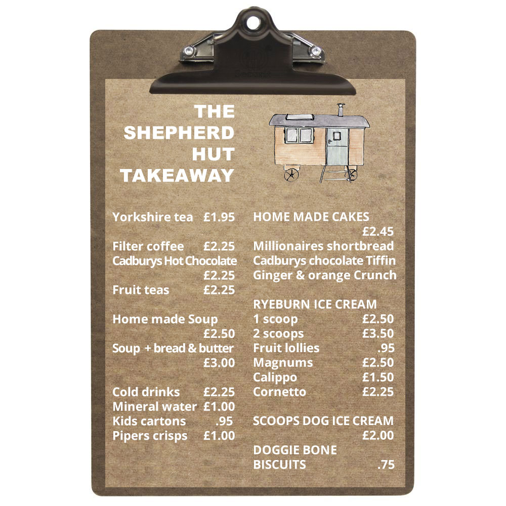 Shepherd Hut Takeaway Menu